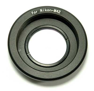 Адаптер m42 - Nikon с оптическим элементом
